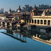 Ram Ghat, reflected in the Bagmati River. Pashupatinath, Nepal