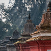 Shiva shrines dominate Gorakhnath Mandir on the hill above Pashupatinath. Nepal