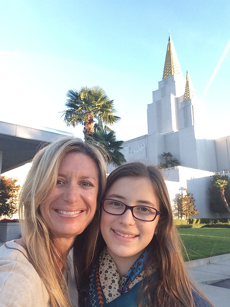 Young Women's trip to the temple for baptisms--special day!