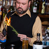 Chris Barrett mixes a drink using Strong Tonic at Ludivines in Oklahoma CIty, OK.