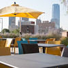 The dining patio on the roof of the Packarcd located at Robinson and NW 10th in Oklahoma City, OK.