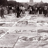 The Quilt - In 1993 the March on Washington brought thousands of citizens from across the country together to contiune the fight for equal rights for all. The AIDS Quilt had been growing over the years and was displayed on the mall that year. It was a somber and sad reminder of lives lost.