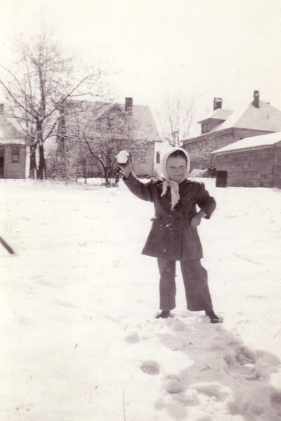 Doug with a Snowball