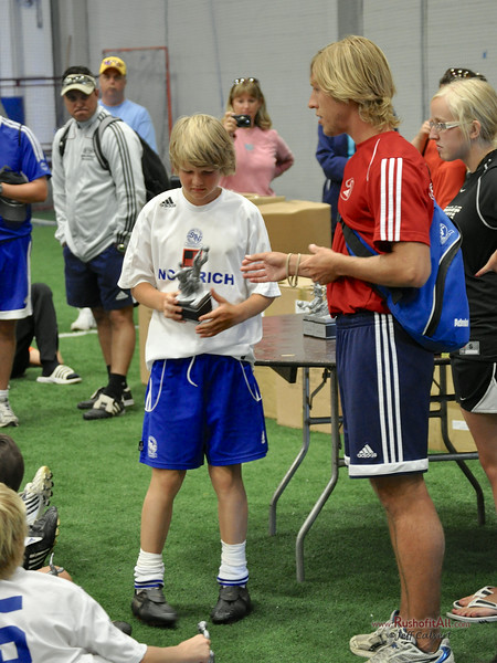 STN Rangers (U12) awards ceremony - champions at Greece Cobra's Tournament in Rochester, NY, July 12, 2009.