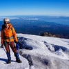 Me climbing the Villarrica volcano in Pucón, Chile