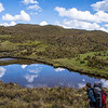Admiring the view at El Cajas National Park in Ecuador