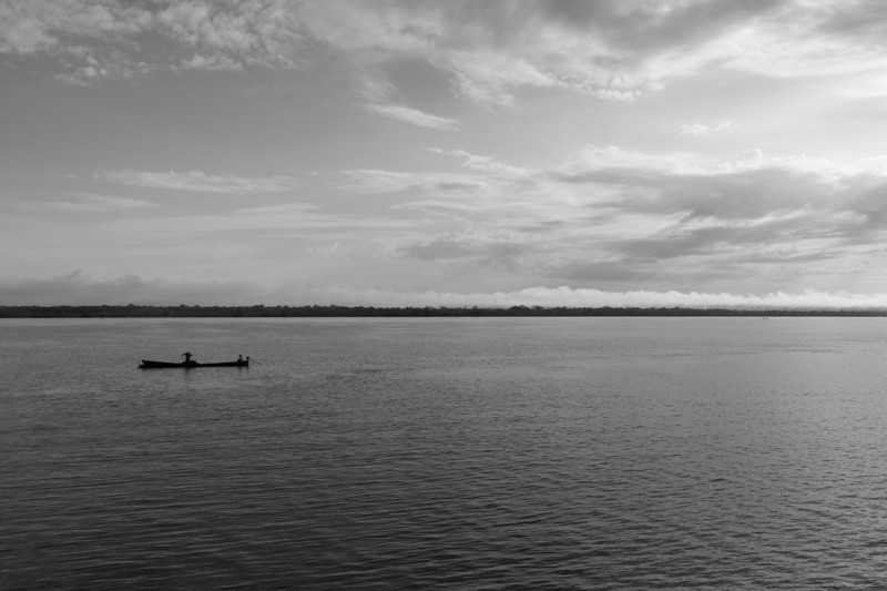 Lone Fisherman on the Amazon