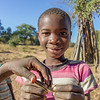 A boy poses proudly with his grasshopper during a miniature bioblitz that we conducted in Mafacitela, Gaza Province, Mozambique.