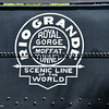 Chama, New Mexico - Cumbres & Toltec Scenic Railroad - engine from Rio Grande Train
