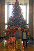 This year's Christmas tree with Norm and Serena Vartizarian.