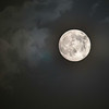 Supermoon coming out of the clouds July 11, 2014