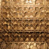 Golden and Polychromed Coffered Ceiling