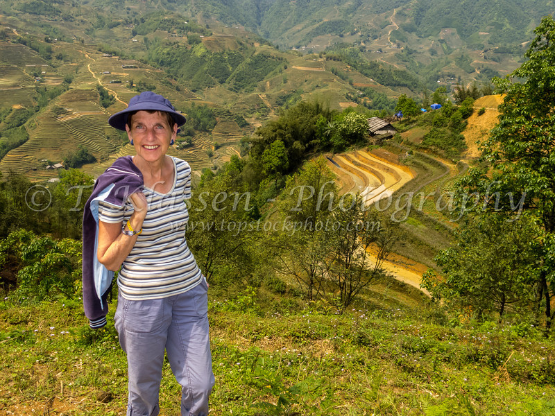 The trek to Lau Chai village near Sapa, Vietnam, Asia.