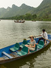 The Yen River and Perfume Pagoda trip by rowboat from Ben Duc to a large cave and buddhist shrine, Vietnam, Asia.