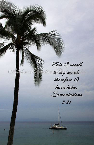 LAMENTATIONS 3:21; MAKENA BEACH, MAUI