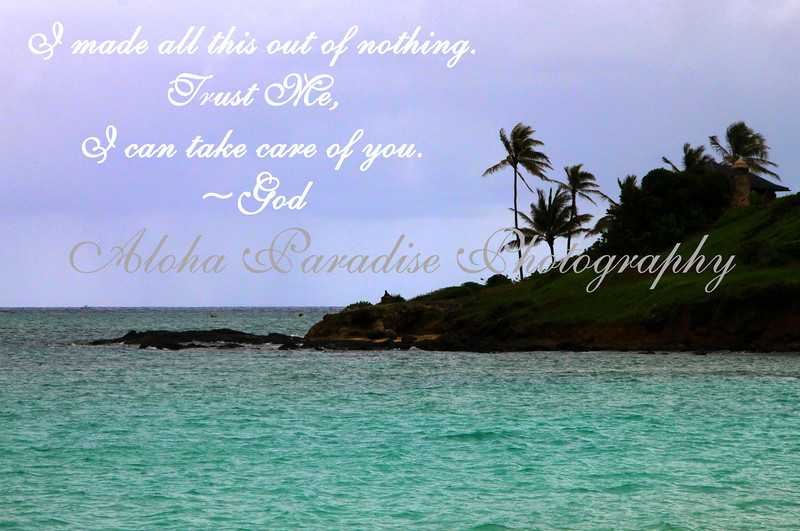 TRUST GOD, KAILUA BEACH, OAHU