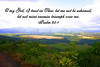 PSALM 25:1, VIEW FROM HAUPU MOUNTAIN RANGE