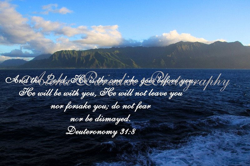 DEUTERONOMY 31:8, NCL, KAUAI NORTH SHORE