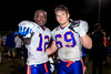 November 22, 2013: Bolles' Ahman Ross and Cody Mercer celebrate their 35-28 victory over Raines at Raines High School. -James Vernacotola