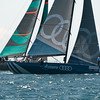 24.07.2011. Sailing Audi MedCup circuit stage from Cagliari, Italy. Region of Sardinia Trophy, class TP 52 series regatta. Audi Azzurra Sailing team of Italy followed by Quantum Racing of USA.
