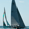 "24.07.2011. Sailing Audi MedCup circuit stage from Cagliari, Italy. Region of Sardinia Trophy, class TP 52 series regatta. Quantum Racing of USA and ""Ran"" of Sweden."