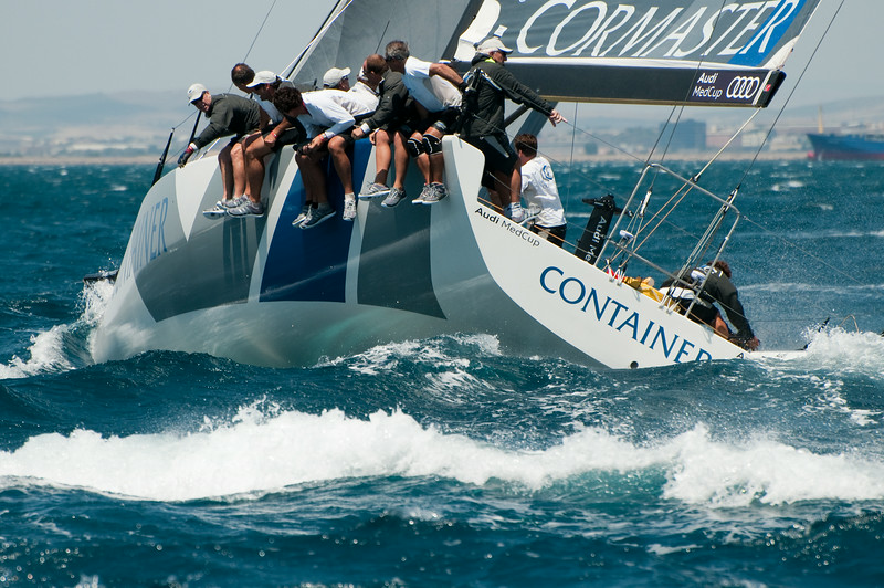 24.07.2011. Sailing Audi MedCup circuit stage from Cagliari, Italy. Region of Sardinia Trophy, class TP 52 series regatta. Container team of Germany.