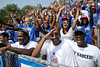 9/3/2011 Mike Orazzi | Staff<br /> The Central Connecticut State student section on opening day at Arute Field on Saturday in New Britain.