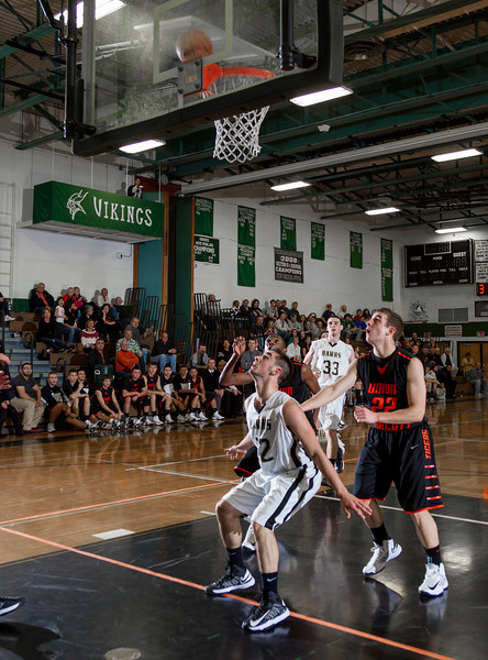 Boys Varsity High School Basketball, Union-Endicott Tigers at Corning Hawks, December 7, 2012.