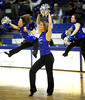 2/11/2012 Mike Orazzi | Staff Members of the CCSU dance team during Saturday's women's basketball game with in state rival Quinnipiac  at Detrick Gym in New Britain.