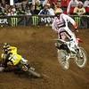 Trey Canard pushes David Millsaps - 450 Main - 5 Jan 2013