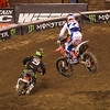 Chad Reed presses Andrew Short in 450 Heat - 2 Feb 2013