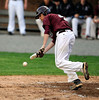 5/3/2013 Mike Orazzi | Staff Bristol Central's Justin Jakubiak (4) attempts a bunt at Muzzy Field on Friday.