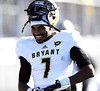 11/23/2013 Mike Orazzi | Staff<br /> Bryant's Dujuan Heath (7) during Saturday's football game with CCSU in New Britain.