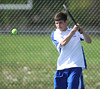 5/7/2013 Mike Orazzi | Staff<br /> Bristol Eastern's David Dixonduring a boys tennis match with South Windsor at BEHS on Tuesday afternoon.