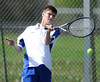 5/7/2013 Mike Orazzi | Staff Bristol Eastern's David Dixon during a boys tennis match with South Windsor at BEHS on Tuesday afternoon.