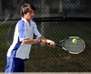 5/7/2013 Mike Orazzi | Staff Bristol Eastern's Troy Estrellado during a boys tennis match with South Windsor at BEHS on Tuesday afternoon.