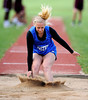 4/14/2013 Mike Orazzi | Staff Bristol Eastern's Amanda Zdun in the long jump against Bristol Central at Eastern on Tuesday.