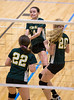High School Junior Varsity Volleyball. Vestal Golden Bears at Corning Hawks. October 14, 2014.