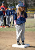 4/12/2014 Mike Orazzi | Staff<br /> Abigail Duprey during the opening ceremonies for Forestville Little League's 60-year anniversary in Bristol Saturday morning.