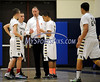 2/19/2014 Mike Orazzi | Staff Newington boys basketball coach Scot Wenzel at NHS on Wednesday night.
