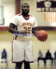 3/1/2014 Mike Orazzi   Staff<br /> New Britain's Craven Johnson (35) during the CCC Boys Basketball Tournament at Bulkeley High School Saturday night in Hartford.