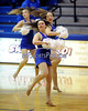 1/25/2014 Mike Orazzi | Staff Molly Westfall performs with other members of the Central Connecticut State University Dance Team on Saturday.