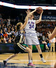 3/22/2014 Mike Orazzi | Staff<br /> Thomaston High School's Morgan Sanson (14) and St. Paul Catholic's Theresa Swanke (34) during the CIAC 2014 State Girls Basketball Tournament Class S Final at Mohegan Sun Arena Saturday. Thomaston won 61-57 in double over-time.