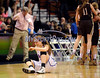 3/22/2014 Mike Orazzi | Staff<br /> St. Paul Catholic's Elisabeth Cretella (21) as Thomaston celebrates a win in the CIAC 2014 State Girls Basketball Tournament Class S Final at Mohegan Sun Arena Saturday. Thomaston won 61-57 in double over-time.