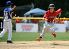 8/7/2014 Mike Orazzi | Staff<br /> Rhode Island's Christopher Davock (5) on his way to third during the Eastern Regional Little League Tournament at Breen Field in Bristol on Thursday.