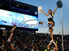 8/29/2014 Mike Orazzi | Staff<br /> BYU Cougars Cheerleaders during the season opening game with UConn in East Hartford on Friday night.