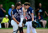 6/4/2014 Mike Orazzi | Staff<br /> St. Paul's Lauren Benoit (9) and Alessandra Milardo (51) during a 2-1 loss to Thomaston High School in the Class S Second Round softball game in Thomaston Wednesday.