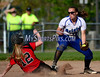 5/14/2014 Mike Orazzi | Staff<br /> Bristol Eastern's Charline Plasczynski (13) and Berlin's Amanda Patterson (12) during Wednesday's softball game in Bristol.