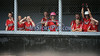 7/19/2014 Mike Orazzi | Staff<br /> The Maine dugout during the Little League Softball Eastern Regional Leon Breen Memorial Field in Bristol on Saturday.
