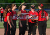 6/11/2014 Mike Orazzi | Staff<br /> Members of Berlin High School softball team during a 7-0 loss to Sacred Heart Academy in the Class L Semifinal at West Haven High School on Wednesday night.